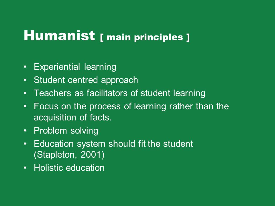 Humanist [ main principles ]